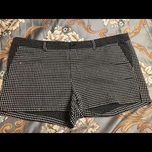 Merona shorts. Black & white checked.
